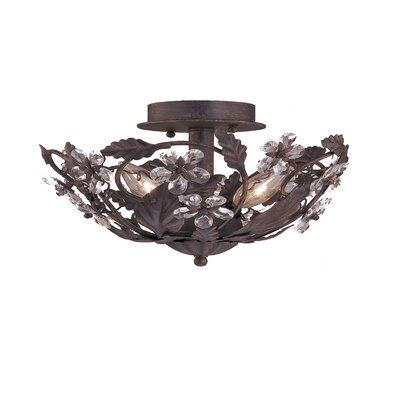 Abbie 3 Light Semi Flush Mount by Crystorama
