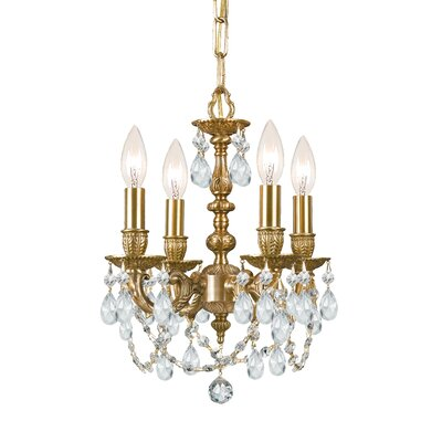 Mirabella 4 Light Mini Chandelier by Crystorama