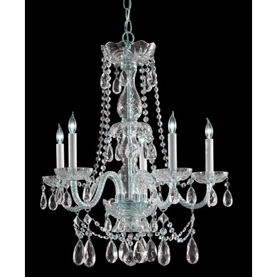 Traditional Crystal 5 Light Chandelier by Crystorama