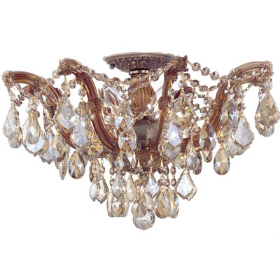 Maria Theresa 5 Light Semi Flush Mount by Crystorama
