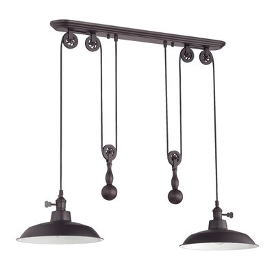 Pulley 2 Light Kitchen Island Pendant Product Photo