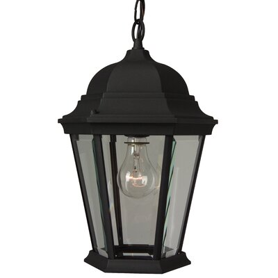 Jeremiah Straight Glass 1 Light Outdoor Hanging Lantern