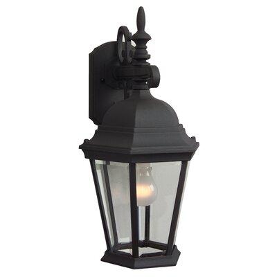 Jeremiah Straight Glass 1 Light Wall Lantern