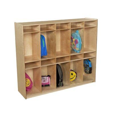 Wood Designs 2 Tier 10-Section Locker