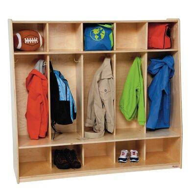Wood Designs Tip-Me-Not 1 Tier 5-Section Seat Locker