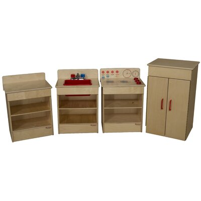 Wood Designs 4 Piece Tot Kitchen Appliance Set