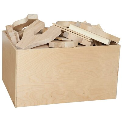 Wood Designs Four Side Block Bin