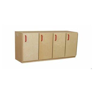 Wood Designs 4-Section Stack Locker