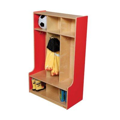 Wood Designs 1 Tier 3-Section Seat Locker