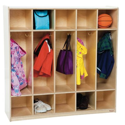 Wood Designs 1 Tier 5-Section Locker