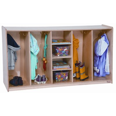 Wood Designs Tip-Me-Not 1 Tier 4-Section Locker