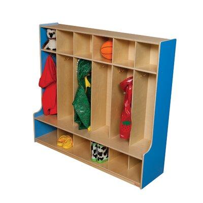 Wood Designs 1 Tier 6-Section Seat Locker