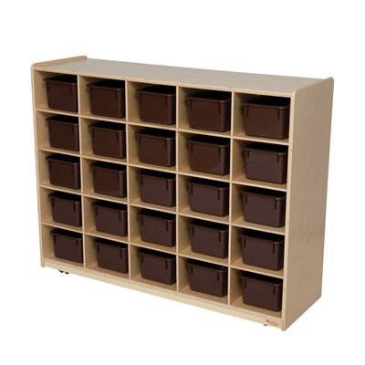 Wood Designs Natural Environment 25 Compartment Cubby