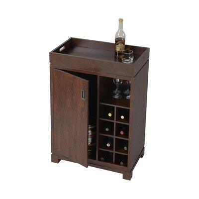 Liquor Cabinet Mini Bar Wine Rack Storage Cart Pub Small