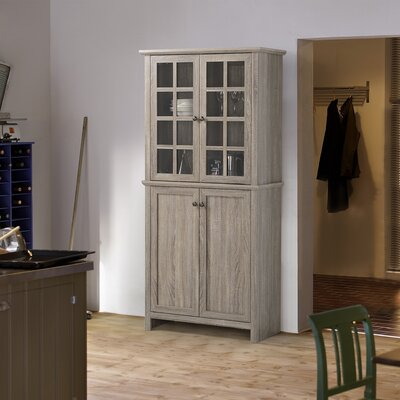 2 Door Glass Storage Cabinet by Homestar