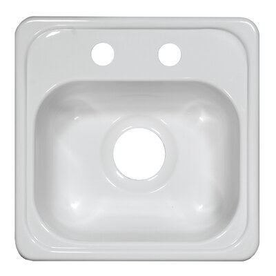 "Deluxe 15"" x 15"" x 6.5"" Bar Sink Product Photo"