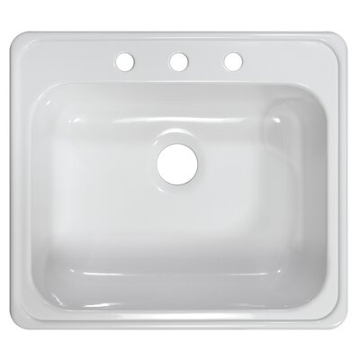 "Lyons Industries Deluxe 25"" x 22"" x 9"" Kitchen Sink"
