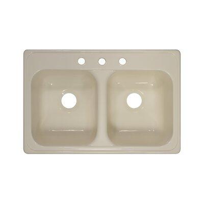 "Lyons Industries Deluxe 31"" x 20.5"" x 9"" Kitchen Sink"