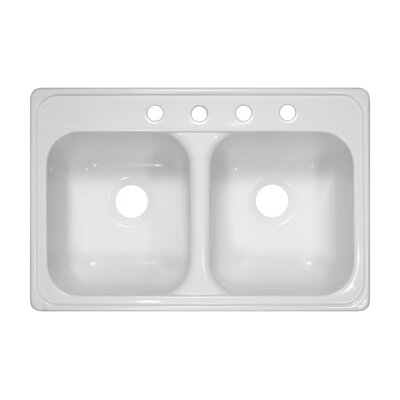 "Deluxe 31"" x 20.5"" x 9"" Kitchen Sink Product Photo"