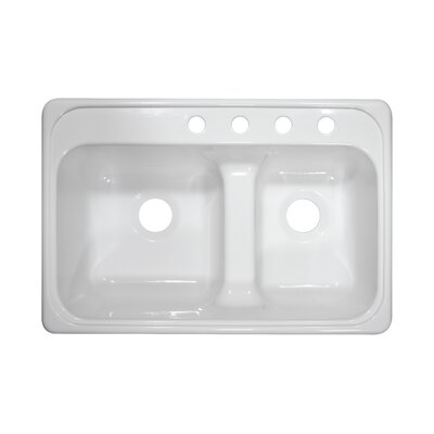 "Deluxe 33"" x 22"" x 10"" Kitchen Sink Product Photo"