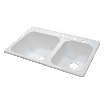 """Deluxe 33"""" x 22"""" x 10"""" Kitchen Sink Product Photo"""