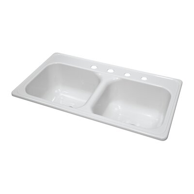 "Deluxe 33"" x 19"" x 9"" Kitchen Sink Product Photo"