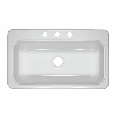 """Deluxe 19"""" Designer Single Bowl Self-Rimming Kitchen Sink Product Photo"""