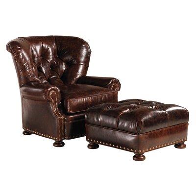 Lexington Elle Leather Ottoman
