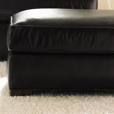 11 South Fillmore Leather Ottoman by Lexington