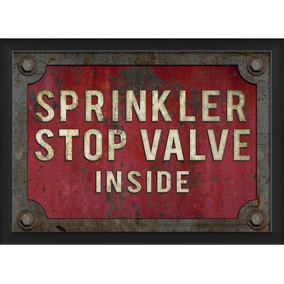 Sprinkler Stop Valve Inside Framed Textual Art by The Artwork Factory