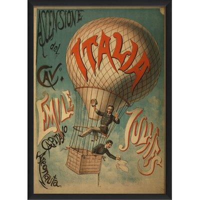 The Artwork Factory Ascensione Del Cave Framed Vintage Advertisement