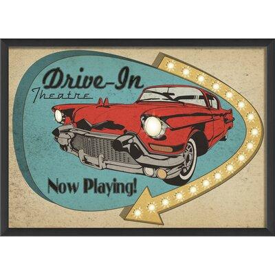 The Artwork Factory Sign Drive In Framed Vintage Advertisement