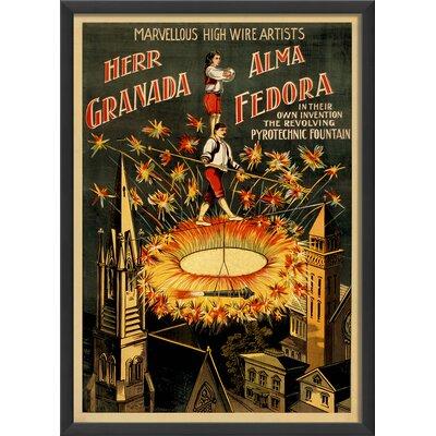 The Artwork Factory Marvelous Highwire Artists Framed Vintage Advertisement