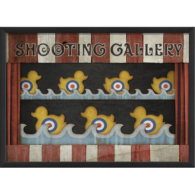 The Artwork Factory Circus Posters Shooting Gallery Framed Graphic Art