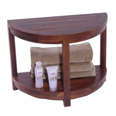 Decoteak Classic Spa Half Moon Teak Shower Bench Amp Reviews