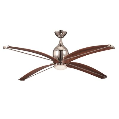 "60"" Tyrod 4 Blade Ceiling Fan with Wall Remote Product Photo"