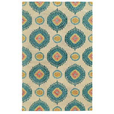 Tommy Bahama Jamison Beige / Blue Floral Rug by Tommy Bahama Home