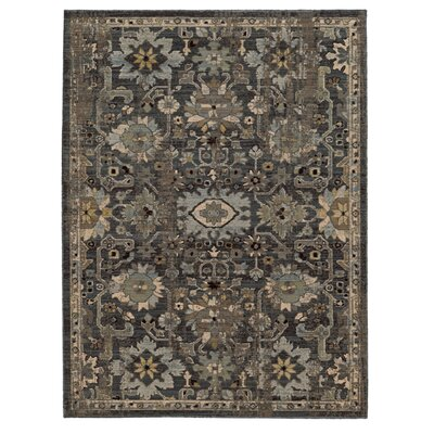 Tommy Bahama Vintage Blue / Grey Floral Rug by Tommy Bahama Home