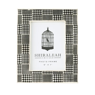 Loft Houndstooth Print Picture Frame by Shiraleah