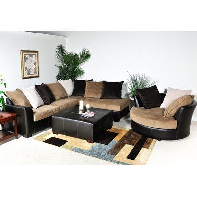 Domino Right Hand Facing Sectional by Chelsea Home