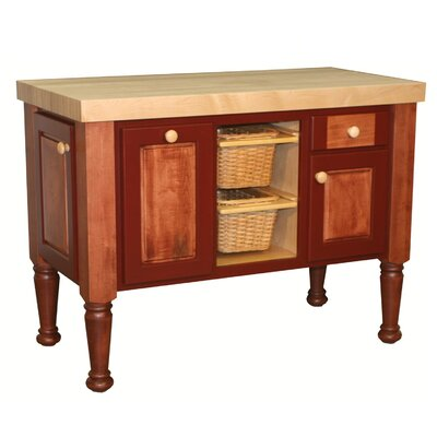 Giada Kitchen Island with Butcher Block Top Product Photo