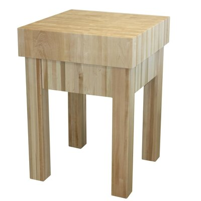 Chelsea Home Prep Table with Butcher Block Top