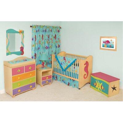 Room Magic Tropical Seas 2-in-1 Convertible 6 Piece Crib Set