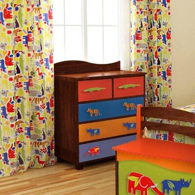 Room Magic Zoo 4 U Cotton Rod Pocket Curtain Panels