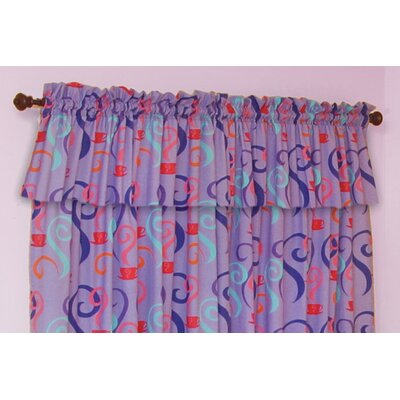 "Room Magic Little Girl Tea Set 57"" Curtain Valance"