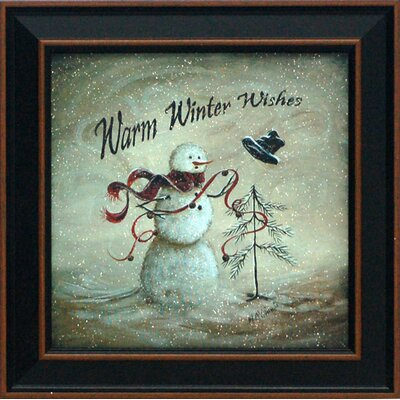 Warm Winter Wishes Framed Graphic Art by Artistic Reflections