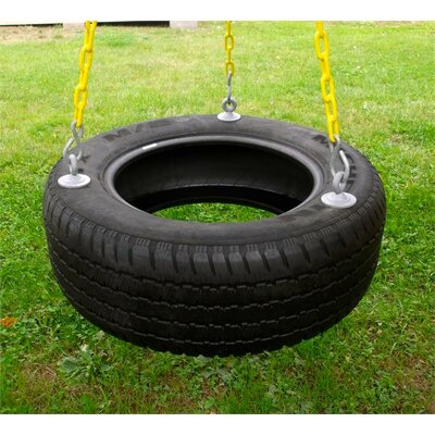 Eastern Jungle Gym 3 Chain Rubber Tire Swing with Coated Chain