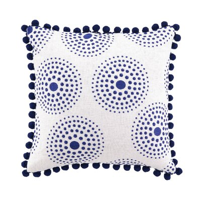 Sis Boom by Jennifer Paganelli Antonia Embroidered Linen Throw Pillow