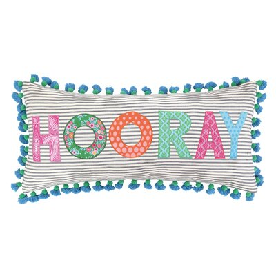 Hooray Linen Throw Pillow by Sis Boom by Jennifer Paganelli