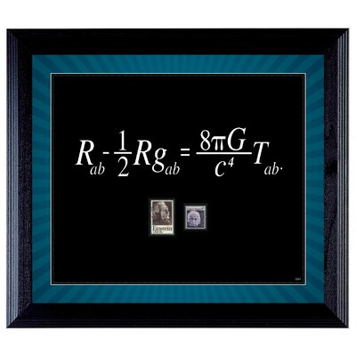 Theory Wall Framed Textual Art with Stamps in Black by American Coin Treasure